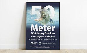 Neue Stadthalle Langen Schwimmbad Plakat