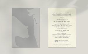 Volksbank Private Banking Einladungskarte